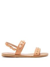 embellished sandals,shell,embellished,sandals,tan,shoes