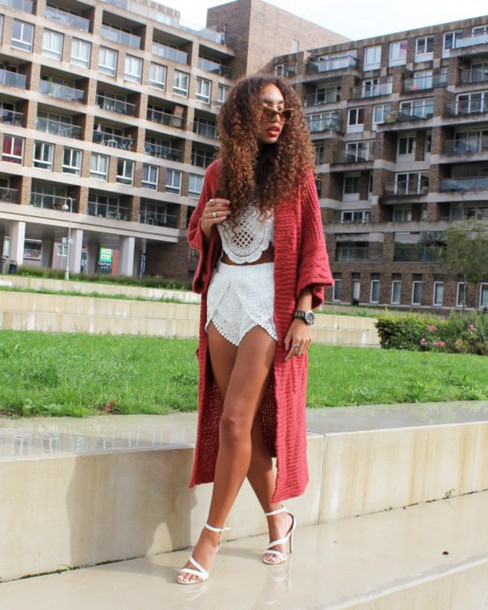 from hats to heels blogger cardigan shoes jewels sunglasses