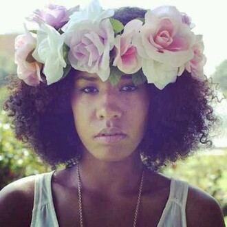 hair accessories floral curly hair black girls killin it