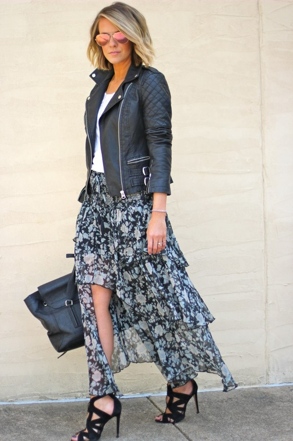 the courtney kerr jacket tank top skirt shoes bag jewels sunglasses