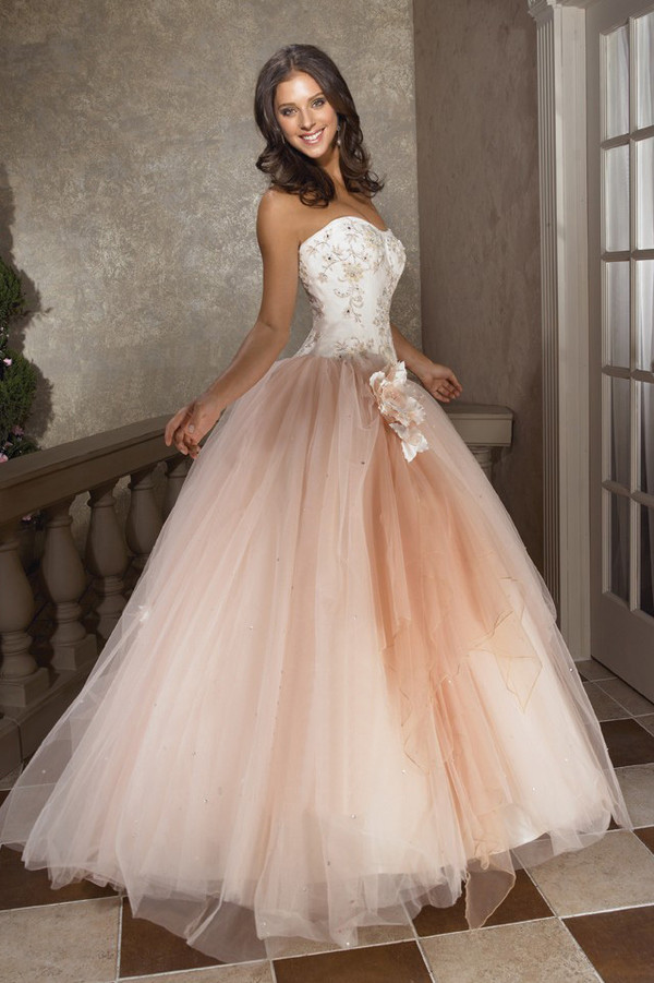 dress quinceanera gown prom dress gown prom dress princess dress beige white dress lace beautiful tan white sleeveless sleeveless dress wedding dress long prom dress long dress ball gown dress ball gown dress