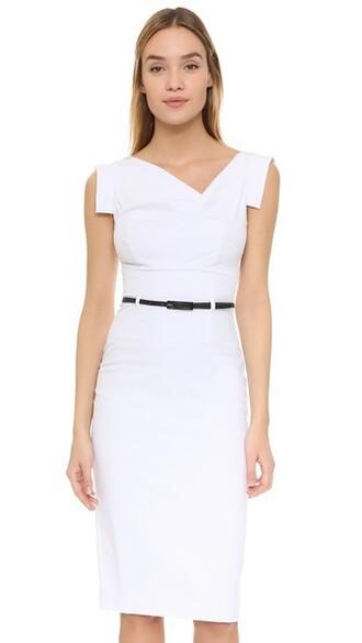dress belted dress white
