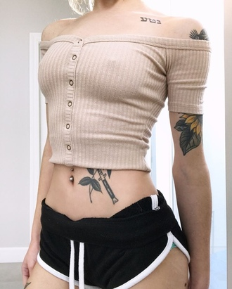 top t-shirt shirt cardigan sweater beige aesthetic