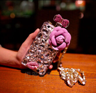 phone cover phone cae studs studded stones bling floral flowers perfume bottle perfume bottle phone case perfume bottle case rhinestones
