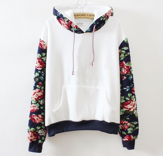sweater pullover floral jacket wihte flower shirt
