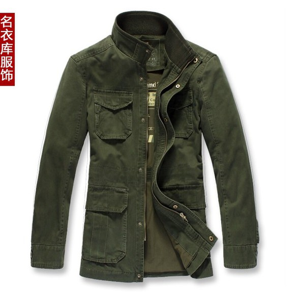 jacket military male zip
