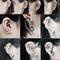 Vintage dragon & snake skull wrap ear cuff stud gothic punk clip earring free | ebay