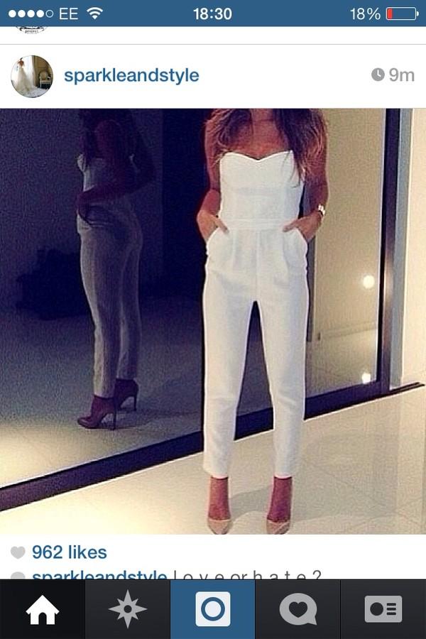 dress jumpsuit white jumpsuit white