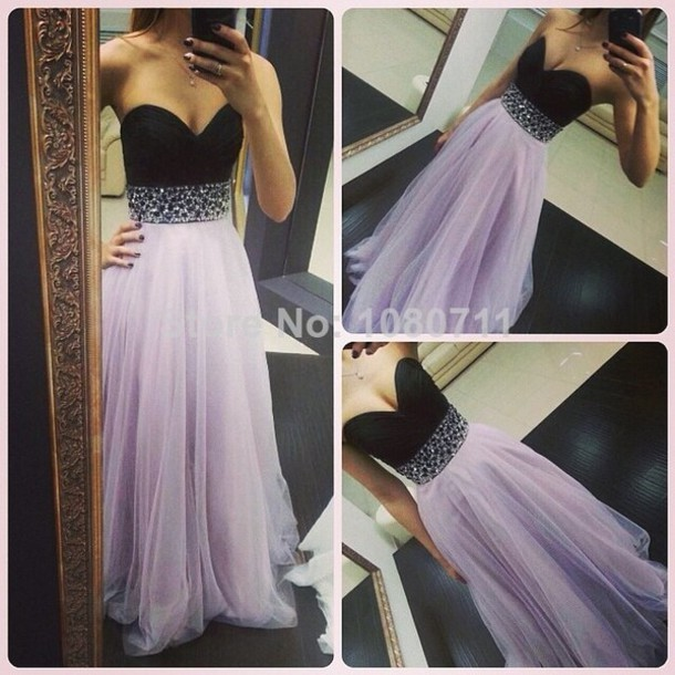 Dress Prom Dress Prom Dress Long Evening Dress Black And Grey