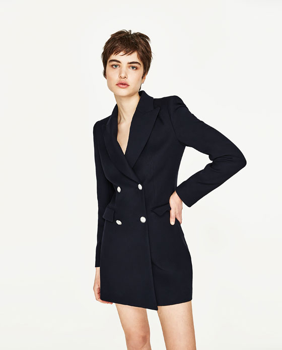 DOUBLE BREASTED FROCK COAT BLAZERS WOMAN | ZARA United States