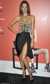 dress,shoes,alessandra ambrosio,fashion week 2014