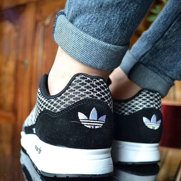 shoes black white basket adidas shoes adidas adidas sneakers adidaswomen