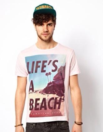 shirt t-shirt hat boy life's a beach