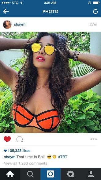 sunglasses shay mitchell mirrored sunglasses