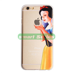 Online shop new arrival transparent case for iphone 6 6 plus 5 5s 4 4s snow white simpson mermaid hand grasp the logo cell phone cover cases
