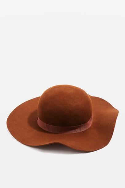 Topshop hat floppy hat rust