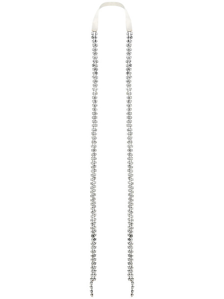 ANN DEMEULEMEESTER metal women necklace cotton grey jewels