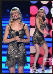 dress,celebrity,beth behrs,sequin dress,open back