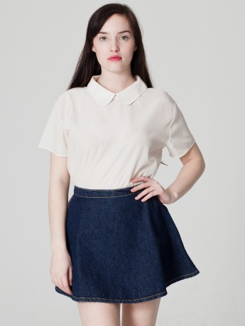 American Apparel - Silky Collar Tee