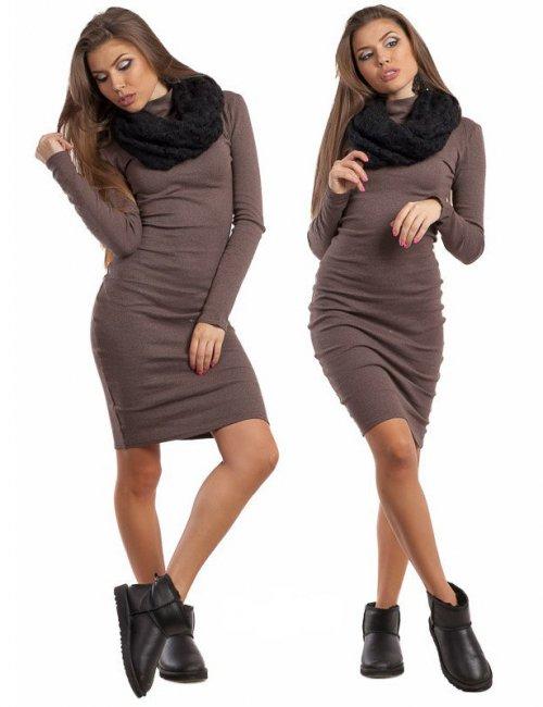 Classic Angora Slinky Turtleneck Dress