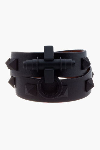 stud jewels women black accessories bracelets pyramid obsedia wrap