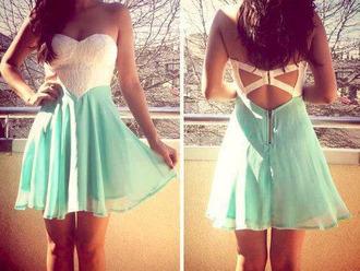 mint dress prettty