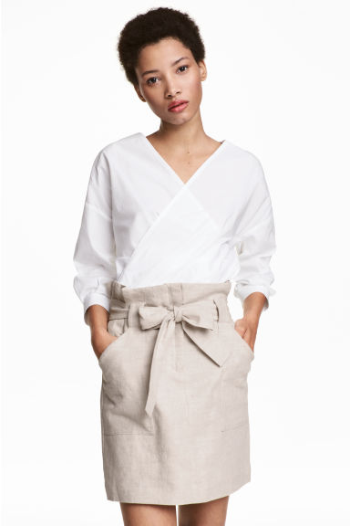Cargo skirt - Light beige - Ladies   H&M GB