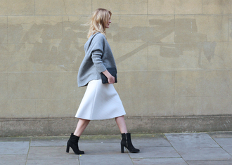 blame it on fashion blogger skirt sweater shoes bag