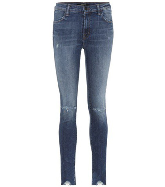 J BRAND jeans skinny jeans high blue
