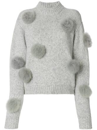 sweater women grey
