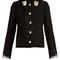Cat-button wool-blend tweed jacket