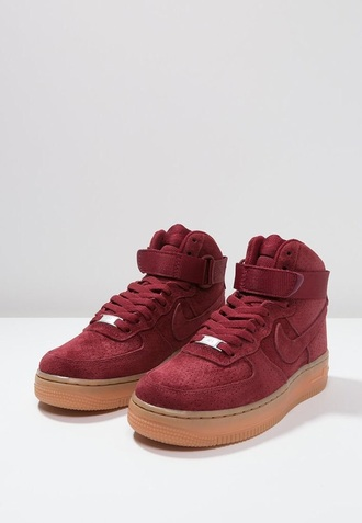 shoes burgundy shoes high top sneakers dope