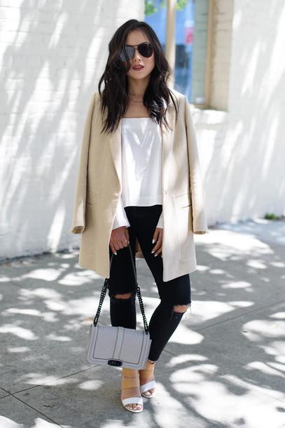 the fancy pants report blogger top bag shoes sunglasses jeans