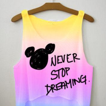 Never Stop Dreaming Crop Top   fresh-tops.com on Wanelo