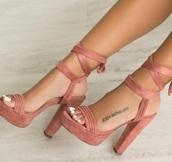 shoes,pink,rose,daim,nuckbuck,talon,hight