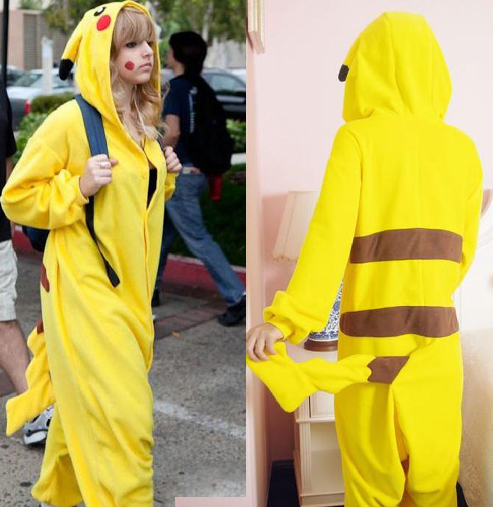 New Kigurumi Pajamas Anime Cosplay Costume unisex Adult Onesie Pokemon Pikachu | eBay