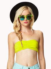 underwear,bandeau,bra,neon,swimwear