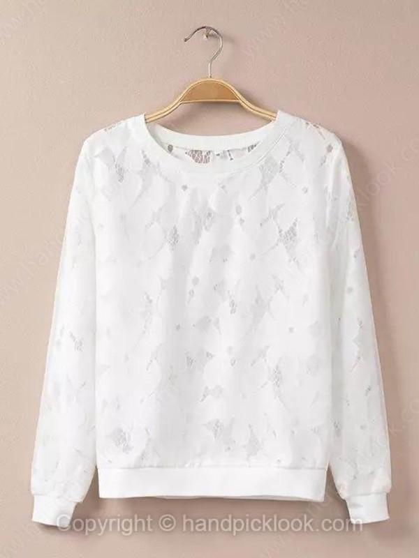 top sweatshirt lace top