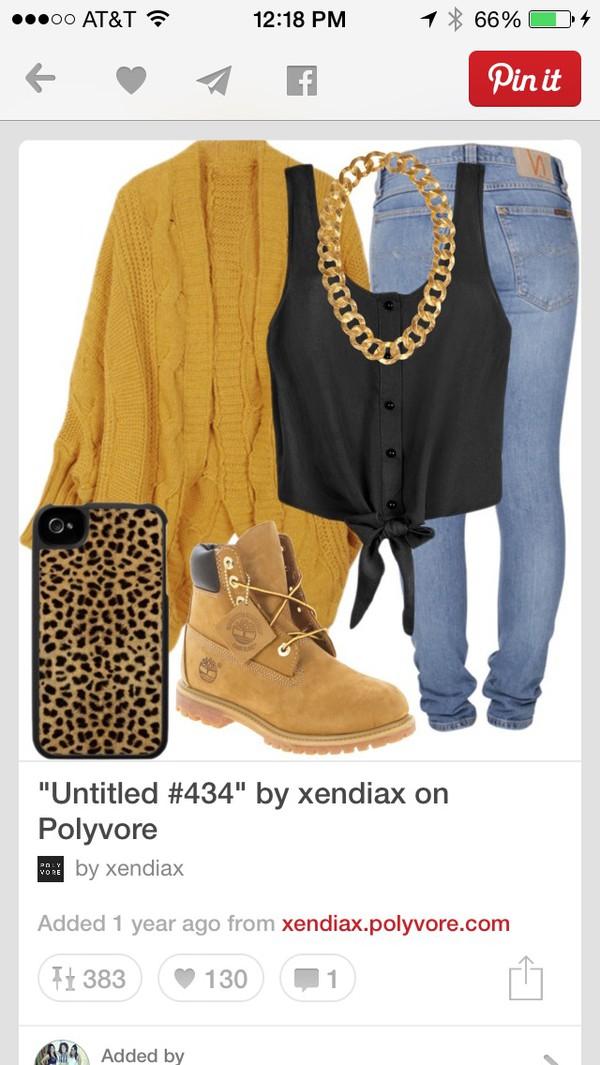 cardigan jeans jewels blouse