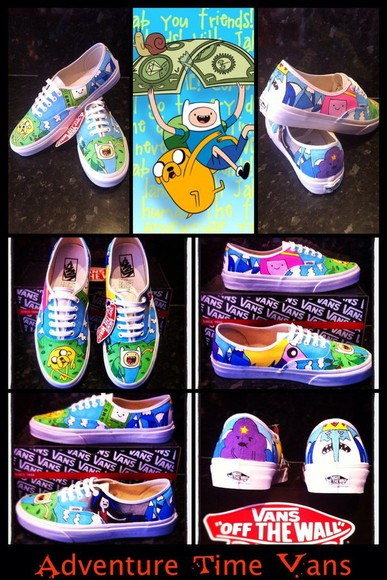 cartoon shoes adventure time vans