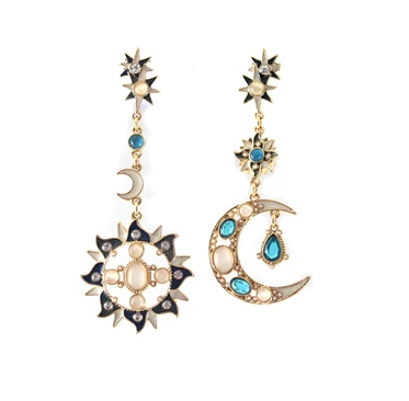Sun and luna earings