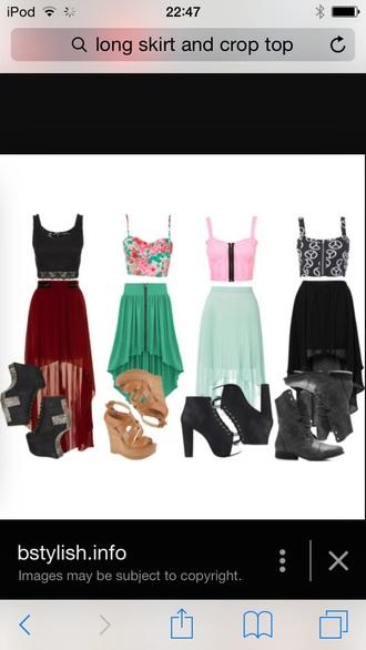 top skirt hair accessory