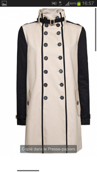 coat trench bicolore bicolor jacket mango