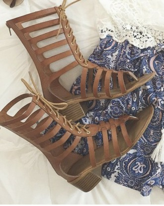 shoes brown flat gladiator sandals heel laceup gladiator opentoe