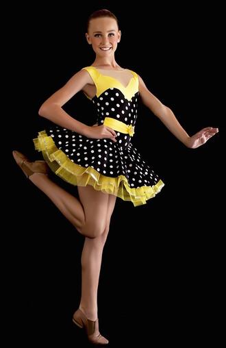 dress tutu tutu dress dancewear dance costume yellow dancer costume dance polka dots polka dots dress dots