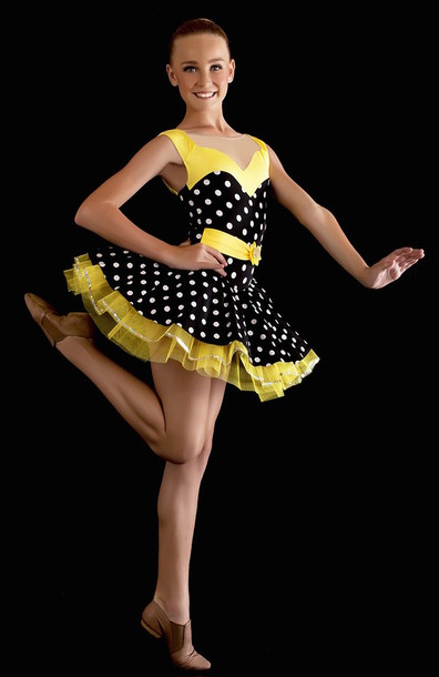 dress tutu tutu dress dancewear dance costume yellow dance costume dance polka dots polka dots dress polka dots