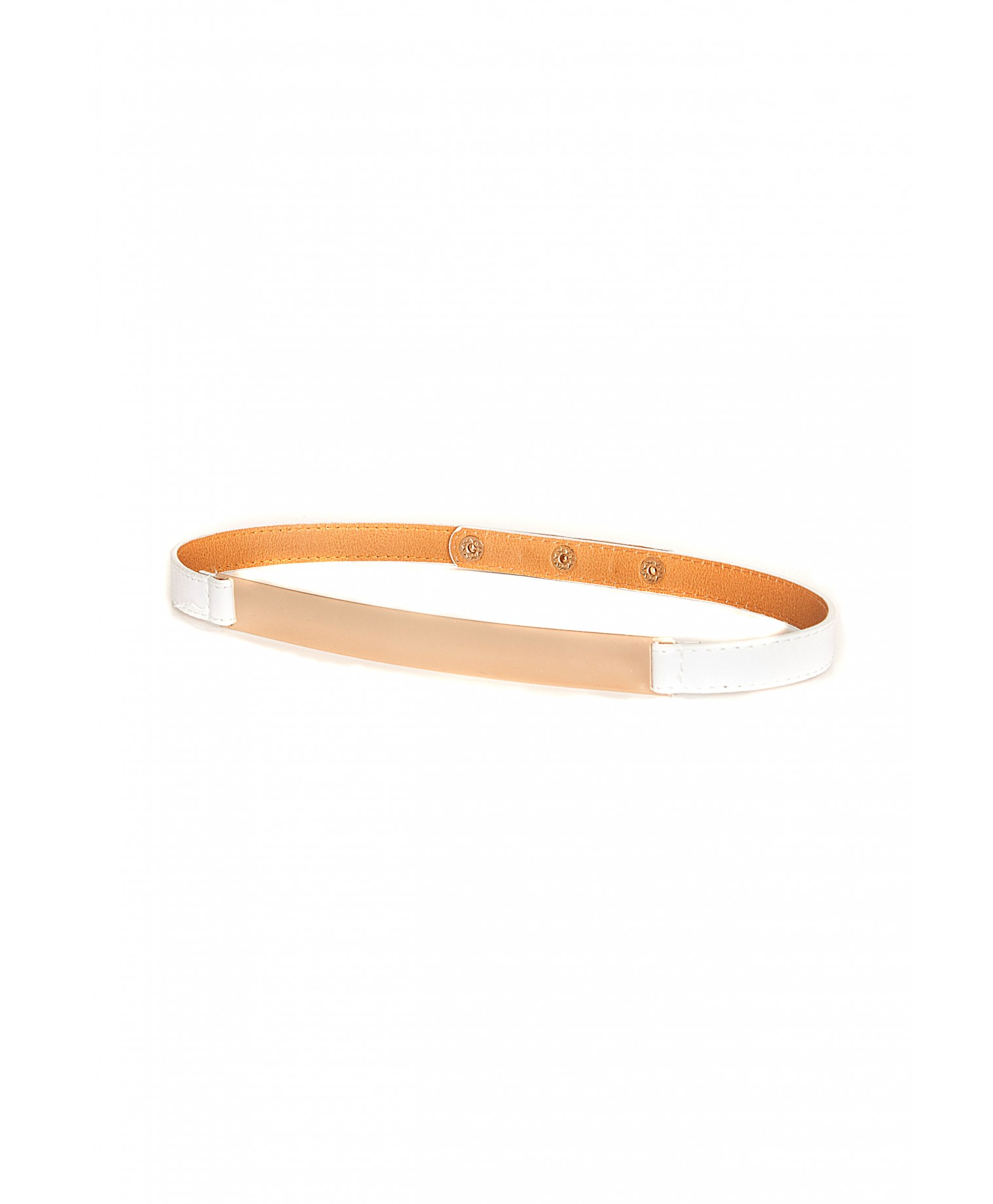 Missguided - Lidea Leather Thin Belt In White - Campaign