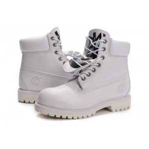 Timberland Men's 6 Inch Basic Waterproof Boot With Padded Collar White