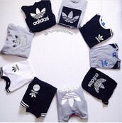 t-shirt,adidas,adidas shirt,grey,white,black,sweatshirt,sweater