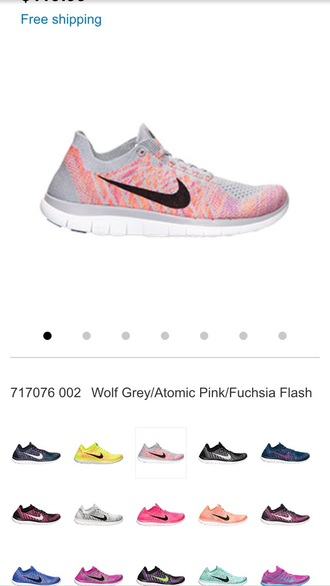 shoes grey nike running shoes pink